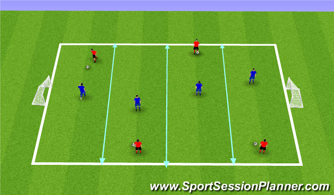 Football/Soccer Session Plan Drill (Colour): Activity 2: 1v1 Tournament