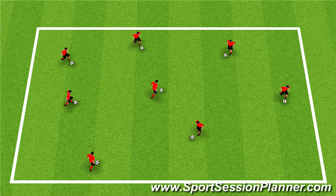 Football/Soccer Session Plan Drill (Colour): Warm-Up: Soccer City