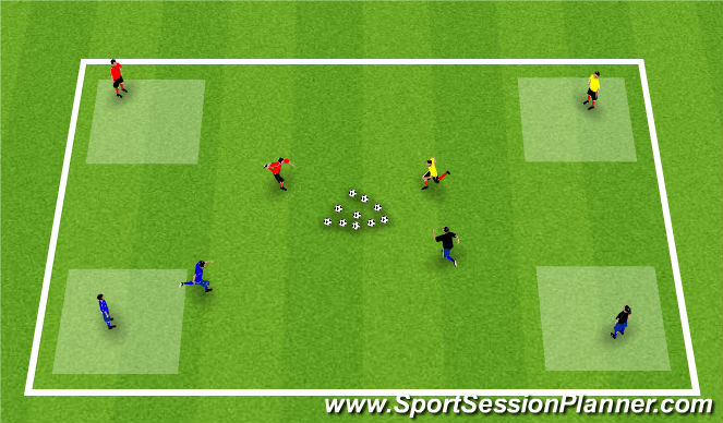Football/Soccer Session Plan Drill (Colour): Activity 2: Robin Hood