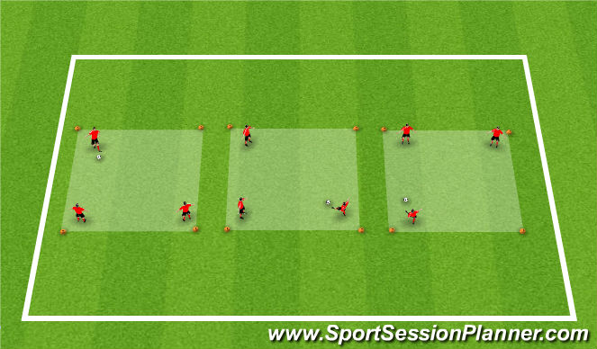 Football/Soccer Session Plan Drill (Colour): Activity 2: Pass and Move