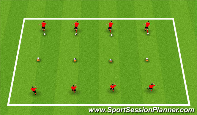 Football/Soccer Session Plan Drill (Colour): Activity 2: Hit the Target