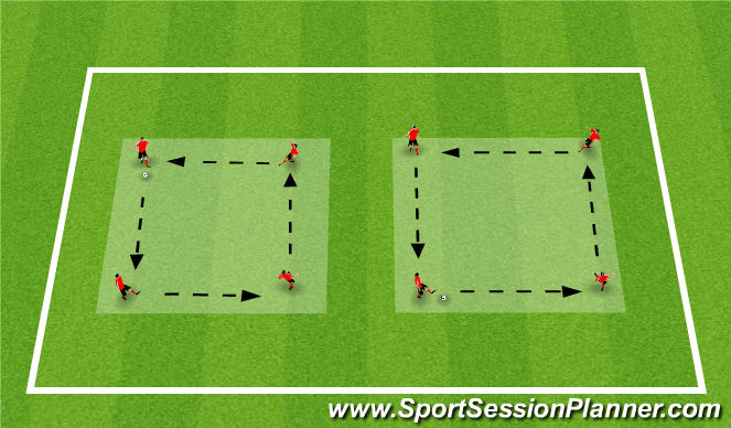 Football/Soccer Session Plan Drill (Colour): Activity 2: Passing Circuit