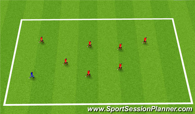 Football/Soccer Session Plan Drill (Colour): Warm-Up: Tiger Tails