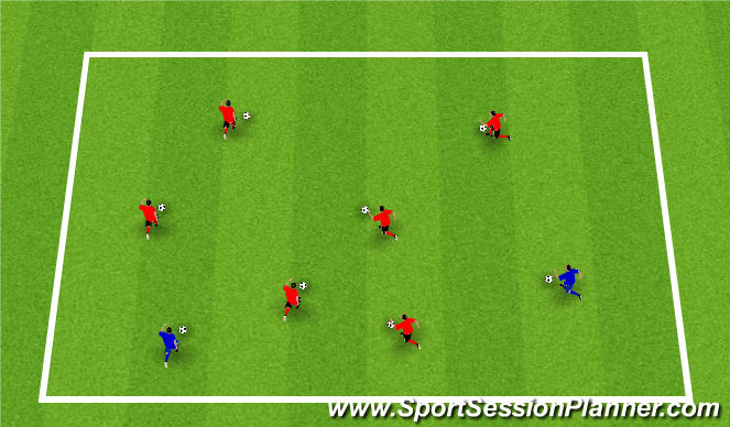 Football/Soccer Session Plan Drill (Colour): Warm-Up: Soccer Tag