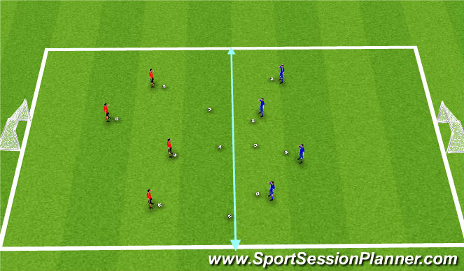 Football/Soccer Session Plan Drill (Colour): Warm-Up: Clean your Room