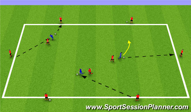 Football/Soccer Session Plan Drill (Colour): Finding Space