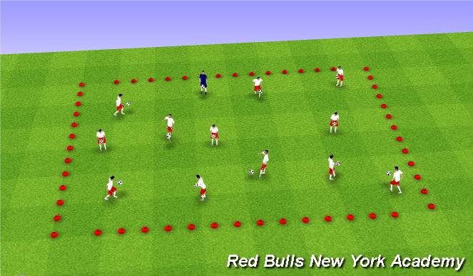 Football/Soccer Session Plan Drill (Colour): Warm-Up/Intermediate ICSTCY Animals