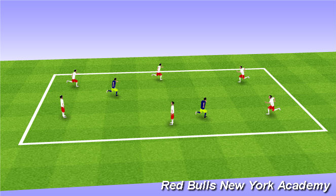 Football/Soccer Session Plan Drill (Colour): Escaped Monkeys