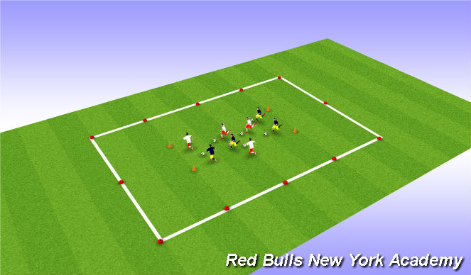 Football/Soccer Session Plan Drill (Colour): Fire Truck Ride