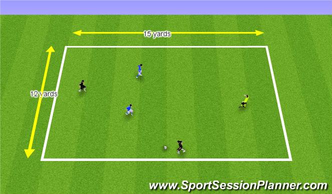 Football/Soccer Session Plan Drill (Colour): 2. 2v2+1 Possession