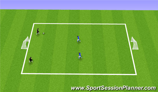 Football/Soccer Session Plan Drill (Colour): 3. 2v2 Flying Changes