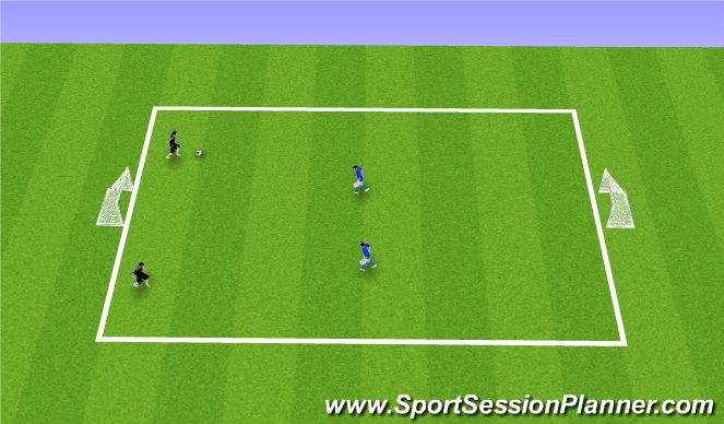 Football/Soccer Session Plan Drill (Colour): 3. 2v2 Flying Changes