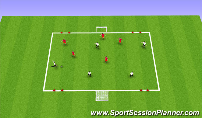Football/Soccer Session Plan Drill (Colour): CG: Switching Play
