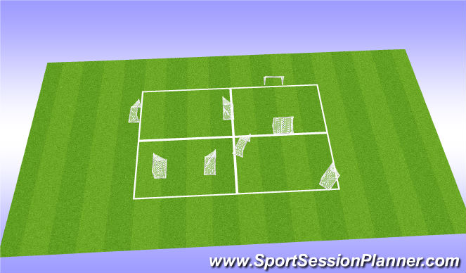Football/Soccer Session Plan Drill (Colour): Eand game set ups