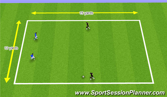 Football/Soccer Session Plan Drill (Colour): 2. 2v2 Game