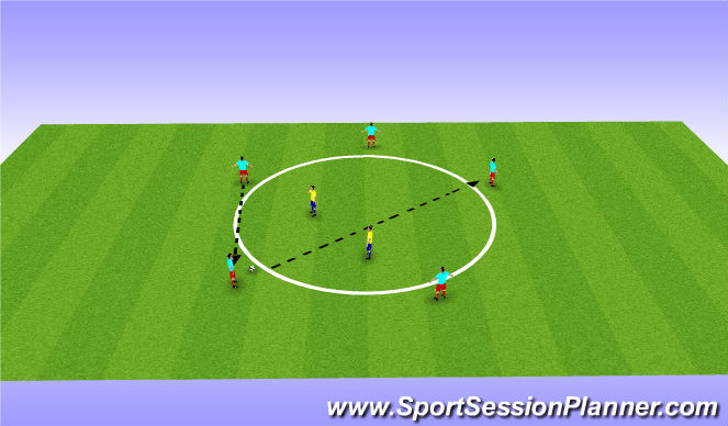 Football/Soccer Session Plan Drill (Colour): Warm up FIFA 11+
