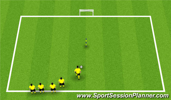 Football/Soccer Session Plan Drill (Colour): stepover and finish