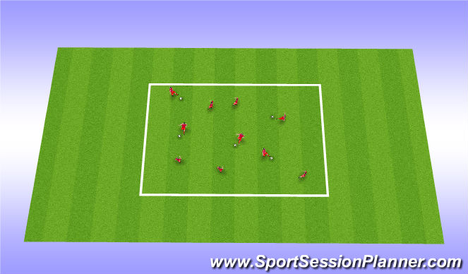 Football/Soccer Session Plan Drill (Colour): CG: 1st to..