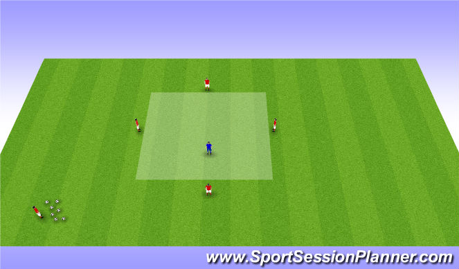 Football/Soccer Session Plan Drill (Colour): Warm-up/Small-Sided