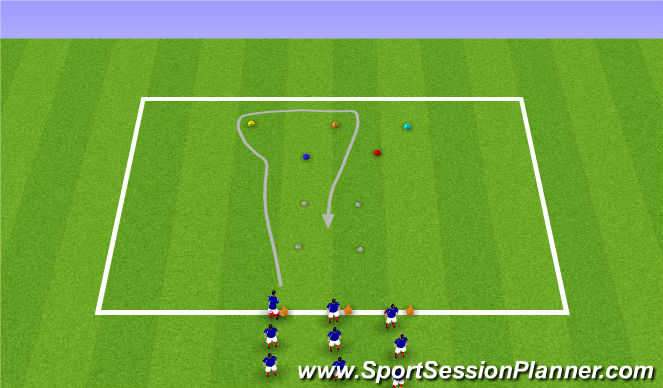 Football/Soccer Session Plan Drill (Colour): Dribbling Colour Chaos