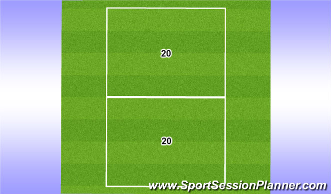 Football/Soccer Session Plan Drill (Colour): 20