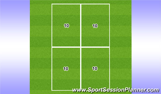 Football/Soccer Session Plan Drill (Colour): 10