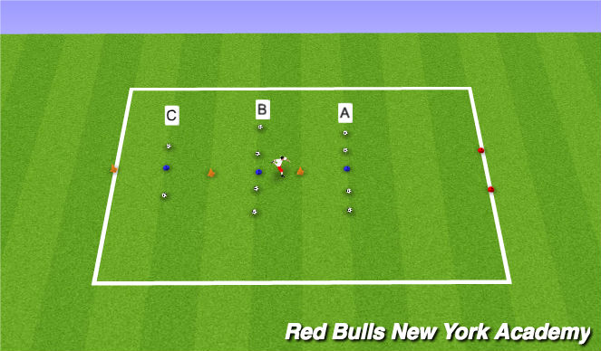 Football/Soccer Session Plan Drill (Colour): Skills Challenge - Passing