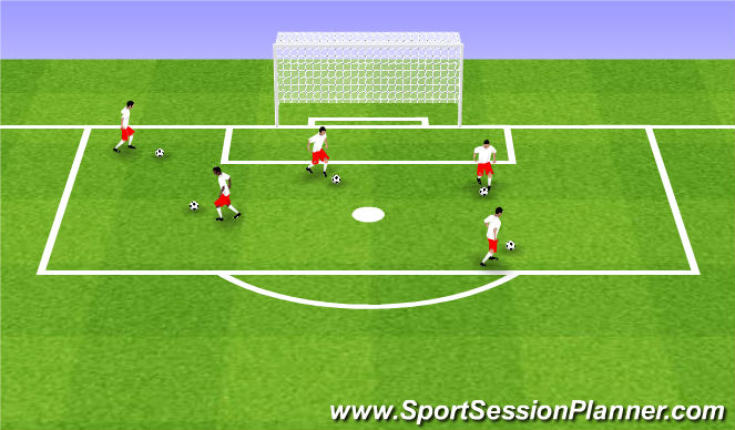 Football/Soccer Session Plan Drill (Colour): Intro to Moves