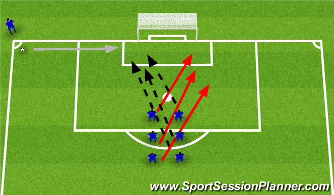 Football/Soccer Session Plan Drill (Colour): Number 1