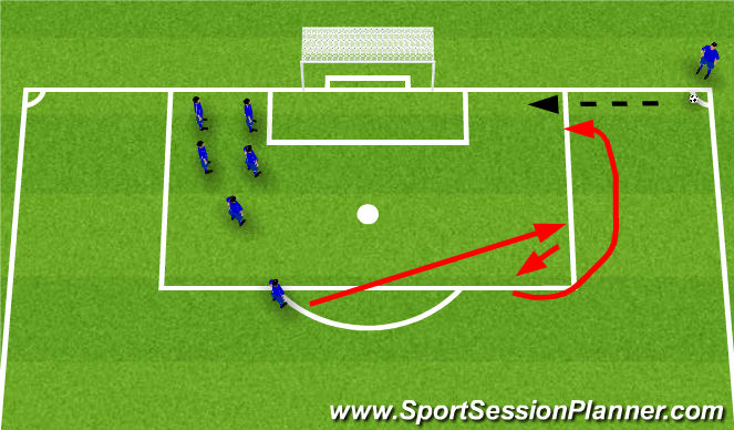 Football/Soccer Session Plan Drill (Colour): Number 3