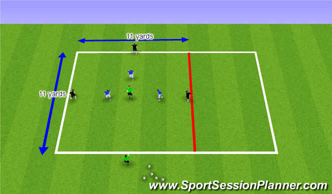 Football/Soccer Session Plan Drill (Colour): Rondo 8 Players