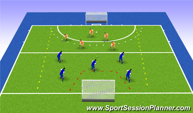 Hockey Session Plan Drill (Colour): game xvx