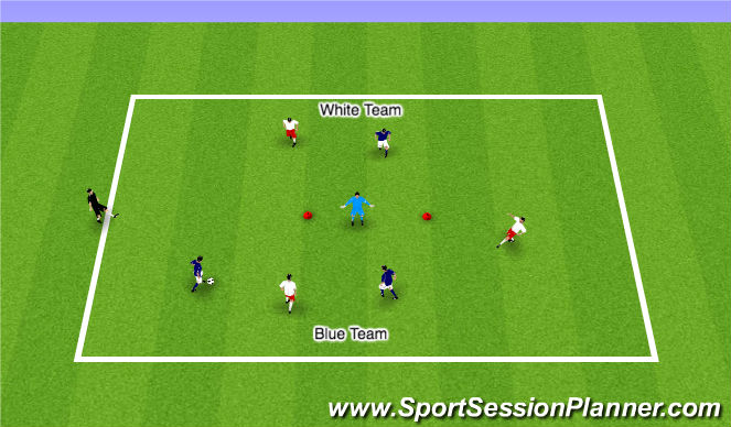 Football/Soccer Session Plan Drill (Colour): GU9S ADP
