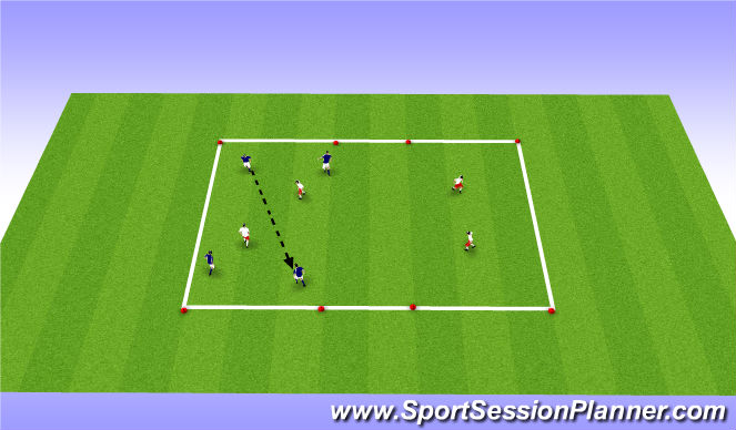 Football/Soccer Session Plan Drill (Colour): ADP GU9'S Aug 4th