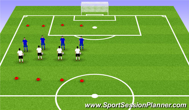 Football/Soccer Session Plan Drill (Colour): reflex exercise
