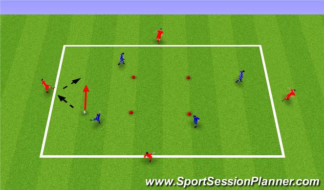 Football/Soccer Session Plan Drill (Colour): Technical 1: