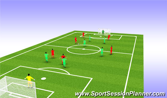 Football/Soccer Session Plan Drill (Colour): SSG's : 7 v 7
