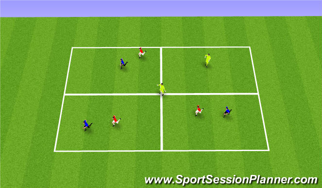 Football/Soccer Session Plan Drill (Colour): Opposite Movement Progression