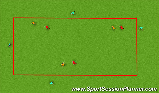 Football/Soccer Session Plan Drill (Colour): 1v1 lose mark