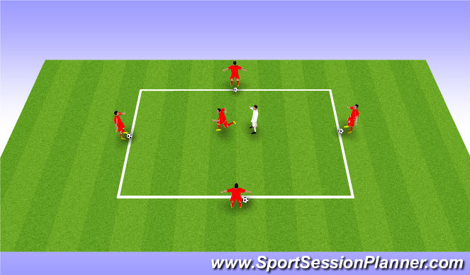 Football/Soccer Session Plan Drill (Colour): Drill - Movement to receive a pass
