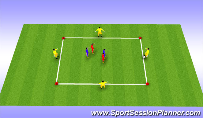 Football/Soccer Session Plan Drill (Colour): Drill - Speed Possession