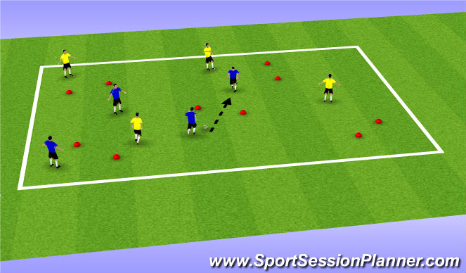 Football/Soccer Session Plan Drill (Colour): Rob D.