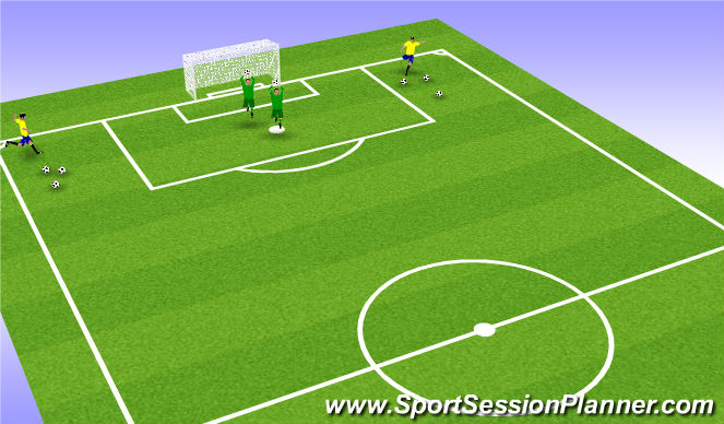Football/Soccer Session Plan Drill (Colour): crosses 2