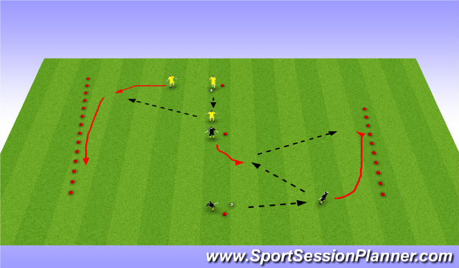 Football/Soccer Session Plan Drill (Colour): Cross pass