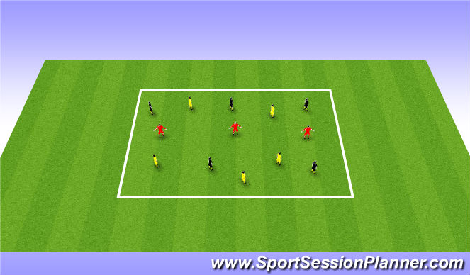 Football/Soccer Session Plan Drill (Colour): Middle strectch