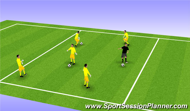 Football/Soccer Session Plan Drill (Colour): GK Pass & Move