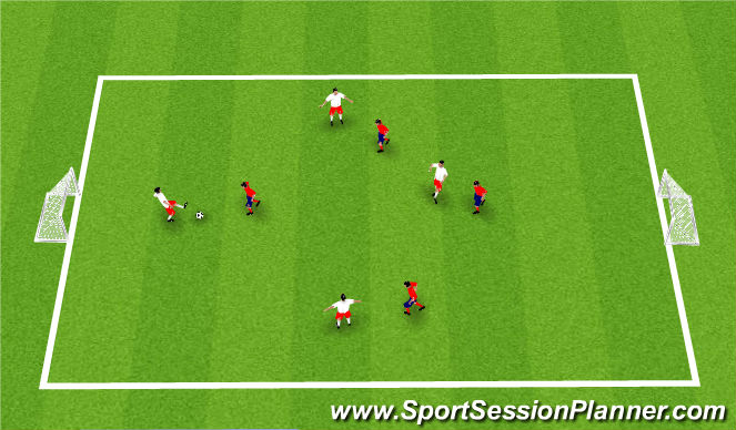 Football/Soccer Session Plan Drill (Colour): SSG Defending