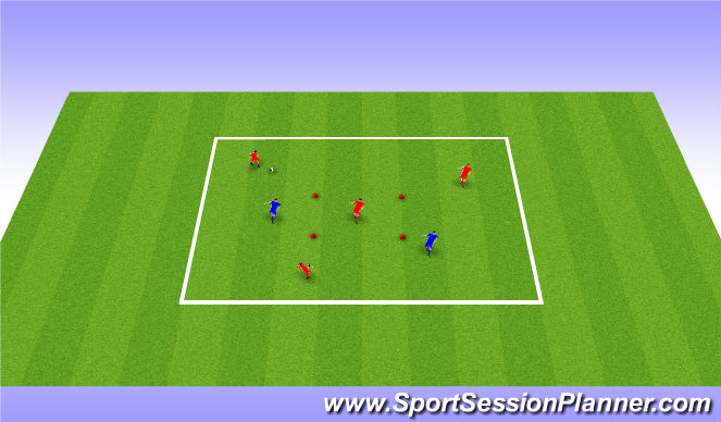 Football/Soccer Session Plan Drill (Colour): Target Player Game