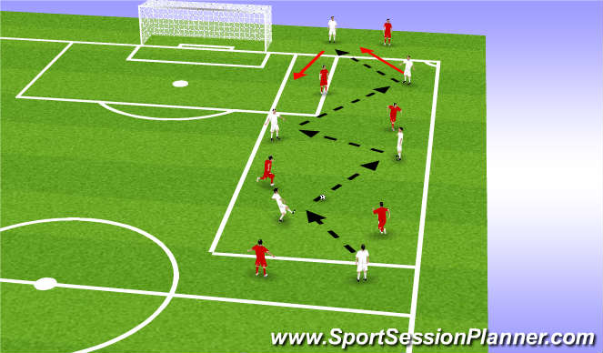 Football/Soccer Session Plan Drill (Colour): Targets possession