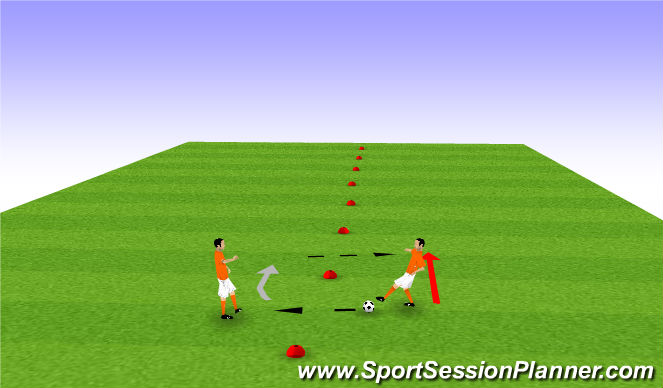 Football/Soccer Session Plan Drill (Colour): CL Warm Up